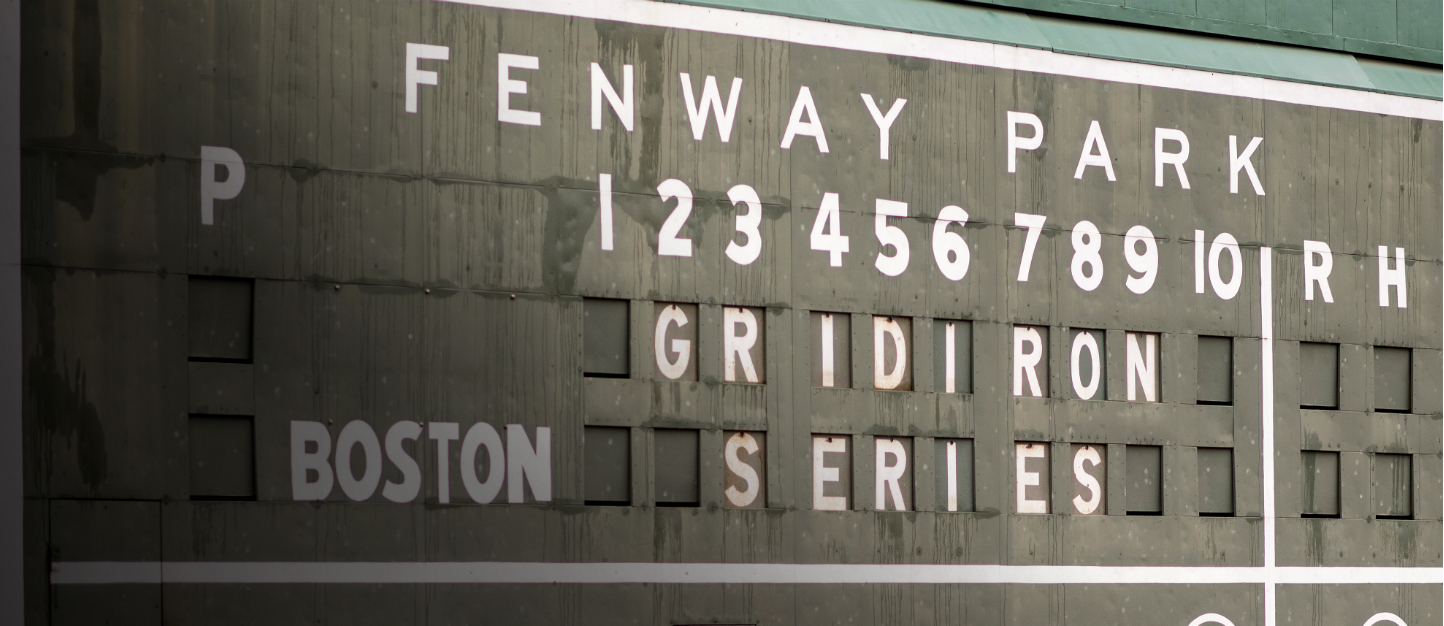 Football at Fenway Park.